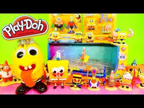 Play Doh Spongebob Squarepants Toys Super Unboxing Color Changing Car Playdough Egg Surprise Dctc video