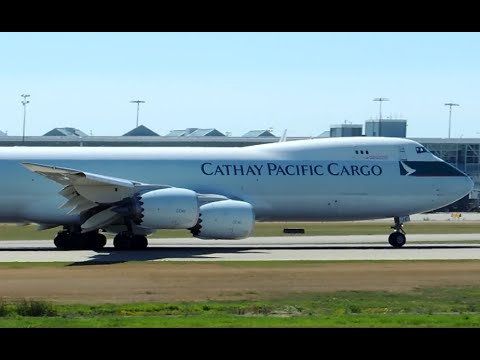 Cathay Pacific Cargo Boeing 747-8F [B-LJE] takeoff from YVR