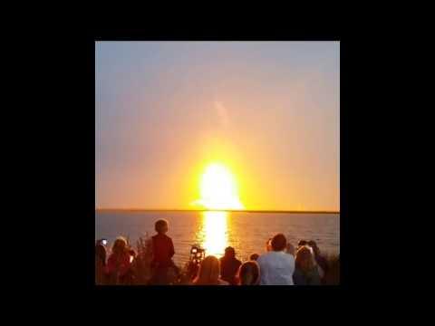 Antares rocket explodes at liftoff