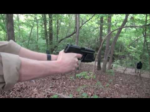H&K USP 9mm Pistol Shooting Action