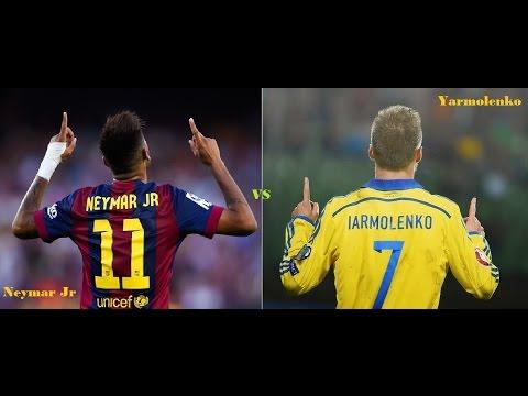 ★ Neymar Jr ★ Vs ★ Andriy Yarmolenko ★ ● Skills Show Battle 2015 ● ► BK&97