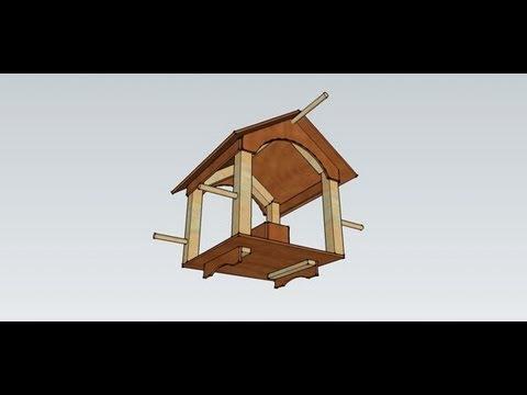 cr ation d 39 une mangeoire pour les oiseaux de la nature youtube. Black Bedroom Furniture Sets. Home Design Ideas