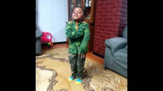 Ethiopian National Anthun by a three and half years old kid Yonael Asasahegn