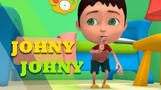Non Stop 3D Animated Children Rhymes - Johny Johny yes Pappa and many more