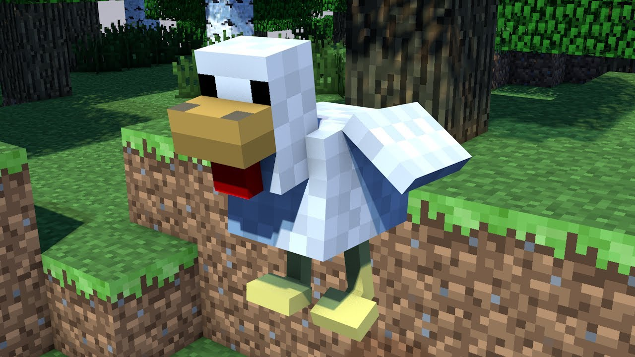 Chicken Minecraft Style Flying Chicken Minecraft