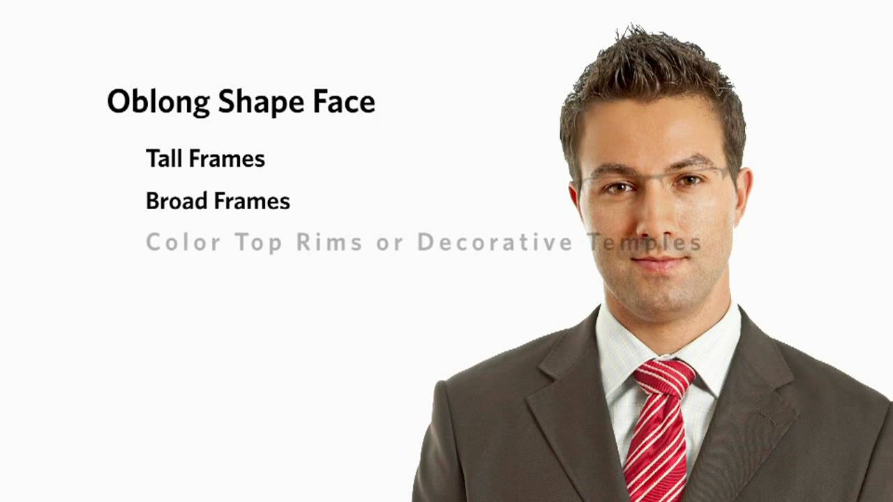 Glasses Frames For High Cheekbones : Frames for an Oblong Face Shape - Male - YouTube