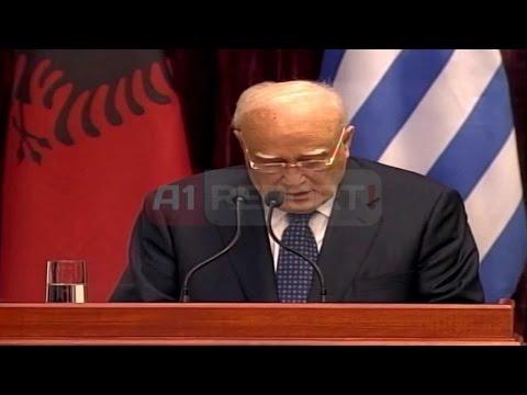 A1 Report - Tiranë, Presidenti grek në Shqipëri, Papulias takohet me krerët e shtetit