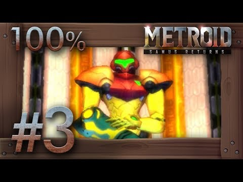 Metroid Samus Returns - 100% Walkthrough Part 3 | Area 2 (All Missiles & Energy Tanks) 3DS Gameplay