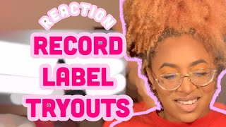 REACTION: Record Label Tryouts- Lenarr Young