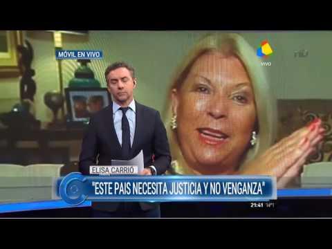 La diputada nacional Elisa Carrió calificó a Hebe de Bonafini de violenta y ladrona