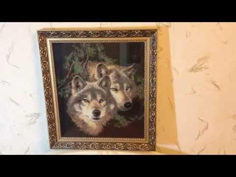 Волки вышивки бисером 26