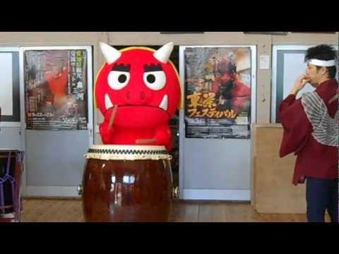 地元キャラクターを活用した東三河の魅力発信事業(オニスター編)の撮影風景