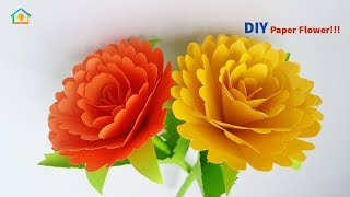 Craft Paper Flower | How To Make Home Decoration Flower Easy and Simple | Crafts Do It