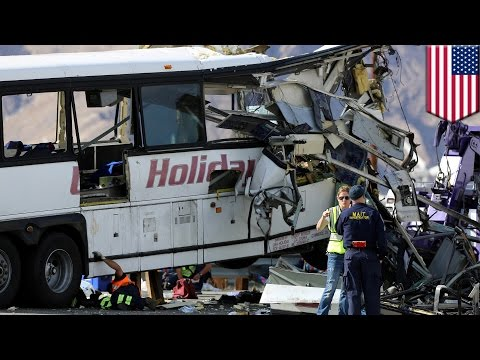 Tour bus crash: 13 killed, 31 injured after bus crashes into semi-truck in California - TomoNews