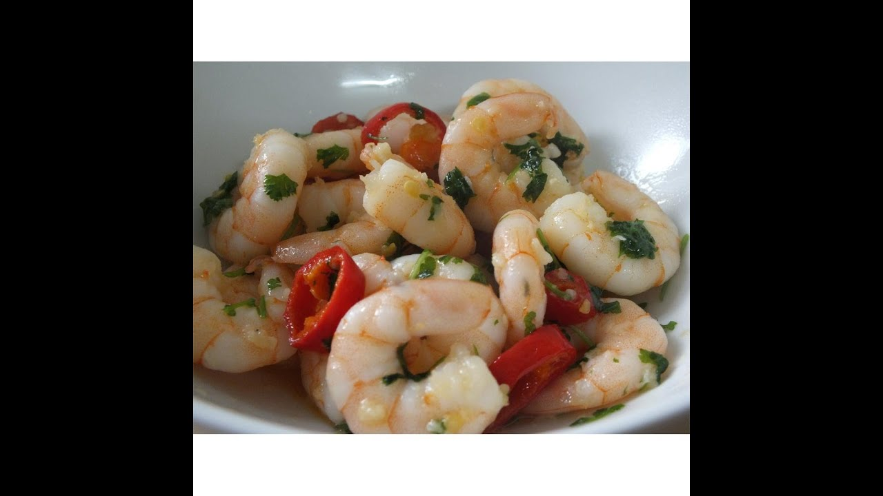 garlic chili prawns recipe using supermarket pre cooked