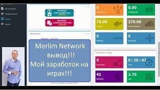 Merlim Network вывод Мой заработок на играх