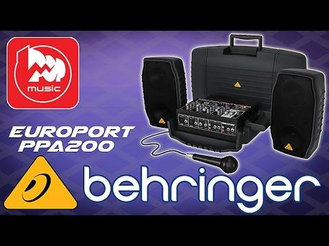 BEHRINGER EUROPORT PPA200 - звукоусилительный комплект