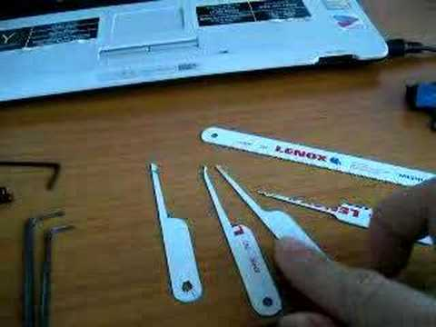 how to make homemade lock picking tools