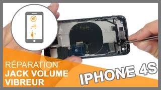 Tuto iPhone 4s : Remplacer Nappe prise jack + volume + vibreur