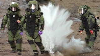 Cesium and water by a bomb unit