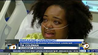Survivor recounts terrifying duck boat accident that took her familie's lives