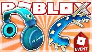 HOW TO GET THE AQUAMAN HEADPHONES & WATER DRAGON TAIL!! (Roblox AQUAMAN EVENT 2018 - Booga Booga)