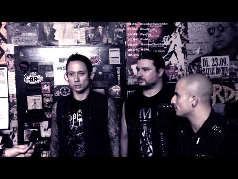 An interview with members of Trivium backstage at the Matrix club in Bochum in 2013.