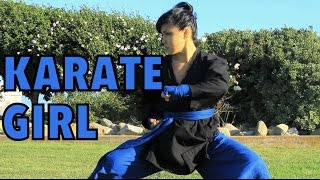 Karate Girl Kata Form