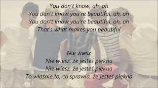 One Direction - What Makes You Beautiful - Tekst + Napisy PL