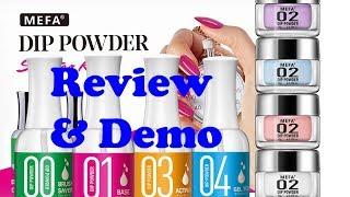 MEFA 3-Color Dip Powder Starter Nail Kit - review & demo