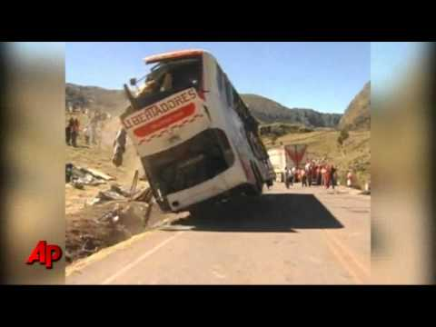Raw Video: Deadly Bus Crash in Peru