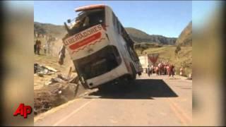 Raw Video: Deadly Bus Crash in Peru