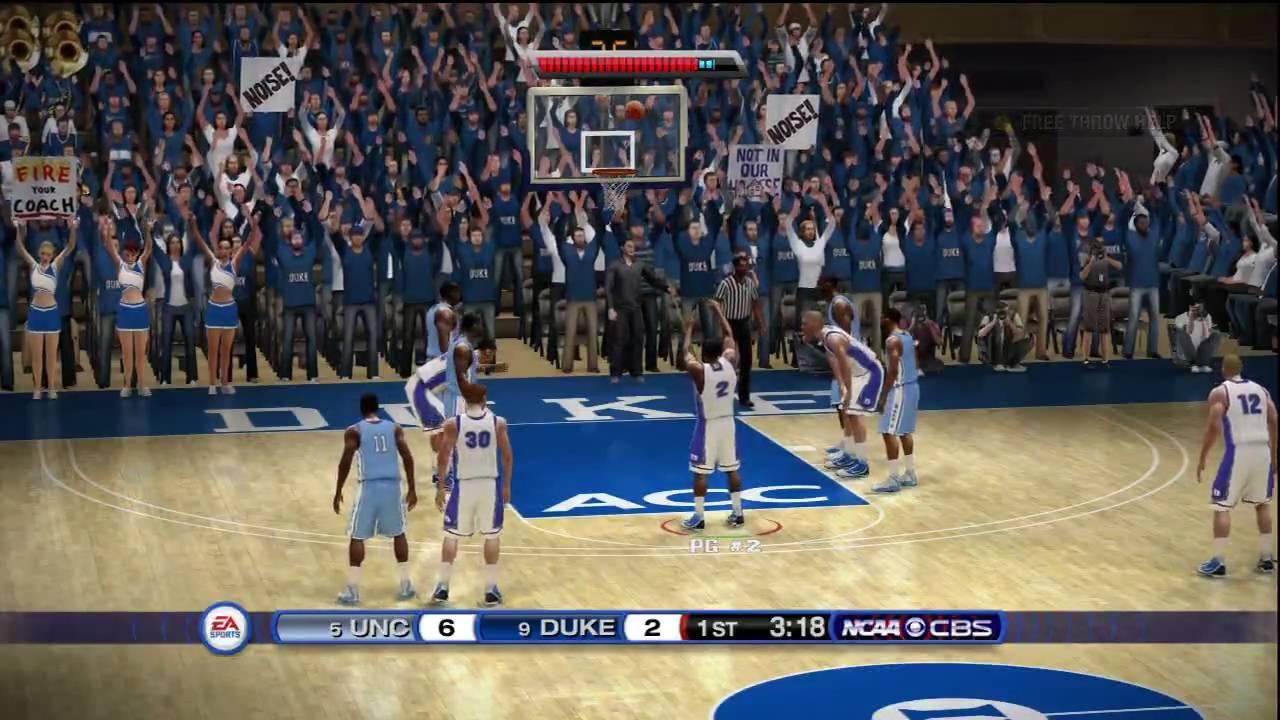 NCAA Basketball 10 (Xbox 360) HD Demo gameplay: Duke vs. North Carolina - YouTube