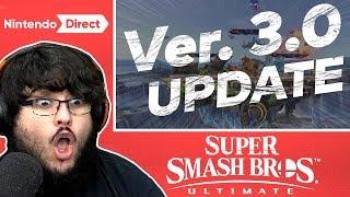 SUPER SMASH BROS. ULTIMATE 3.0! NINTENDO DIRECT LIVE REACTION 2.13.2019