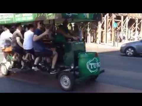 Tuborg бар на колесах Будапешт Венгия 06.2014