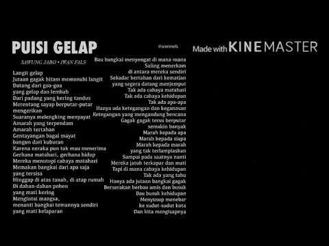 Puisi Gelap — Tri Wibowo (Sawung Jabo • Iwan Fals)