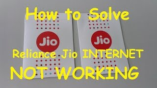 How to Fix JIO 4G NET NOT WORKING AFTER GOT UNLIMITED DATA