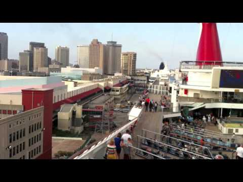 Carnival Conquest Cruise 2011 Leaving Port New Orleans