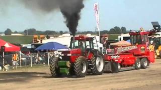 Case IH 8950 pulling St-Damase 2012 part 1 CHOQUETTE