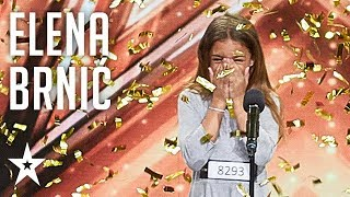Elena Brnić Wins Second Golden Buzzer Supertalent 2018 Auditions