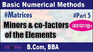 #Minors&Co-factorsoftheelements, #Minors & Co-factors of the elements, #BNM