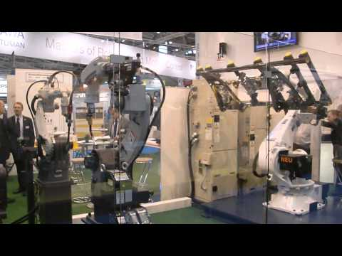 Panasonic welding robots at Automatica 2012