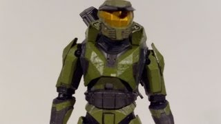 HALO MASTER CHIEF COMBAT EVOLVED 10th ANNIVERSARY ACTION FIGURE TOY REVIEW