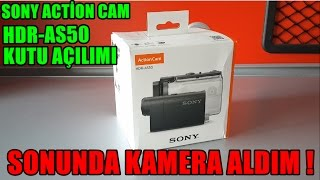 SONY ACTİON CAM AS50 KUTU AÇILIMI / UNBOXİNG