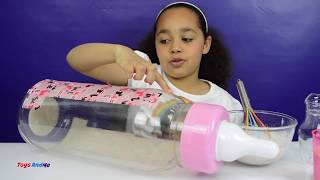 IT'S GUMMY!! DIY - Giant Gummy Baby Milk Bottle | Candy & Sweets Review | Kids Fun Activity