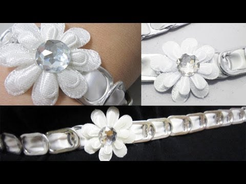 How make a headband, belt,necklace, bracelet with soda tabs