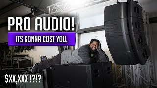 MY PRO AUDIO RIG EP. 1   HOW MUCH DOES IT COST TO GET INTO LIVE SOUND?