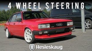 Audi 80 Quattro with 4 wheel steering