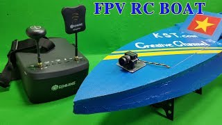 FPV RC Boat using Water Pump 775 Motor