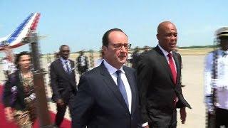VIDEO: Haiti - Avion Francois Hollande ateri nan peyi Dayiti, yon reportaj